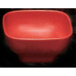 Thunder Group - PS3105RD - 12 oz. Passion Red Round Square Bowl image