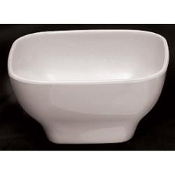 Thunder Group - PS3105W - 12 oz. Passion White Round Square Bowl image