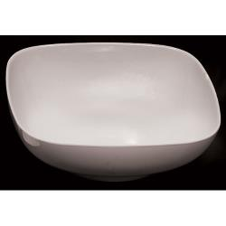 Thunder Group - PS3111W - 128 oz. Passion White Square Bowl image