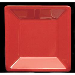 "Thunder Group - PS3214RD - 13 3/4"" Passion Red Square Plate image"
