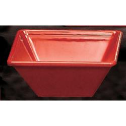Thunder Group - PS5005RD - 8 oz. Passion Red Square Bowl image