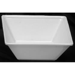 Thunder Group - PS5006W - 16 oz. Passion White Square Bowl image
