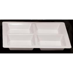 Thunder Group - PS5104W - Passion White 4 Section Square Compartment Tray image
