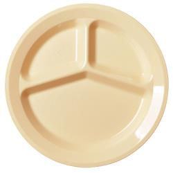 "Cambro - 93CW - Camwear® 9"" 3 Comp Beige Plate  image"
