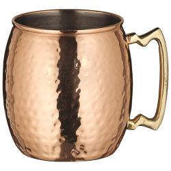 Winco - CMM-20H - 20 oz Copper Mug image