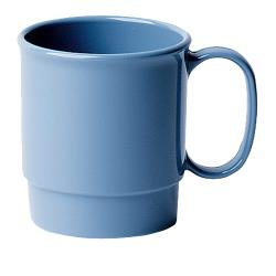 Cambro - 75CW - Camwear® 7.5 oz Slate Blue Stacking Cup image