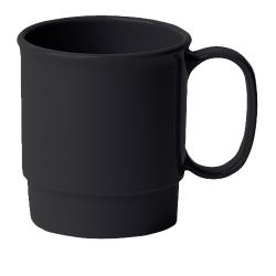 Cambro - 75CW110 - Camwear® 7.5 oz Black Stacking Cup image