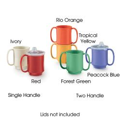 GET Enterprises - SN-104-RO - 8 oz Rio Orange One Handle Kids Cup image