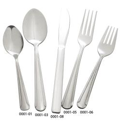 Winco - 0001-04 - Dominion Medium Weight Bouillon Spoon image