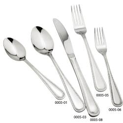 Winco - 0005-04 - Dots Bouillon Spoon image