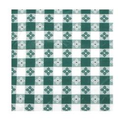 "Winco - TBCO-90G - 52"" x 90"" Green Check Tablecloth image"