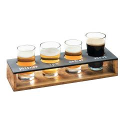 Cal-Mil - 3480-99 - Write-On Madera Beer Flight Taster Caddy image