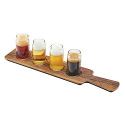 Cal-Mil - 3625-47M - Faux Hickory Beer Flight Taster Paddle image