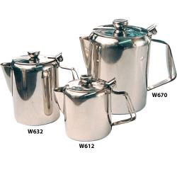 Winco - W612 - 12 oz Stainless Steel Beverage Server image