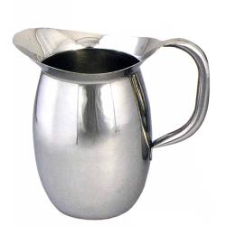 Winco - WPB-2 - 2 qt Stainless Steel Bell Pitcher image