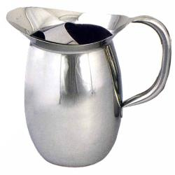 Winco - WPB-2C - 2 qt Stainless Steel Bell Pitcher with Guard image