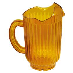 Winco - WPCT-60A - 60 Oz Amber 3-Spout Water Pitcher image