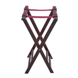 Winco - TR-34W - 32 in Mahogany Tray Stand image