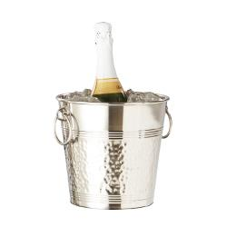 American Metalcraft - WB9 - Hammered Stainless Steel Wine Bucket image