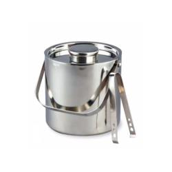 Elegance Silver - 72588 - 3 qt Stainless Steel Ice Bucket w/ Tongs image