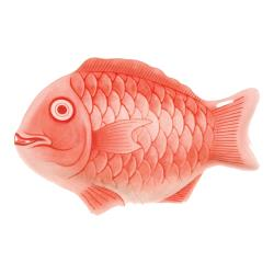 "Thunder Group - 1200CFR - 12"" Red Fish Shape Melamine Platter image"