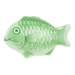 "Thunder Group - 1400CFG - 14"" Light Green Fish Shape Melamine Platter image"