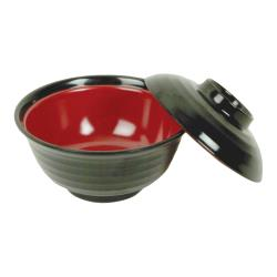 Thunder Group - 3222JBR - 10 oz. Melamine Miso Soup Bowl image