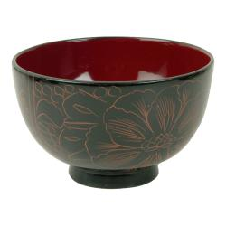 Thunder Group - 45-2 - 10.5 oz. Wood Miso & Rice Bowl image