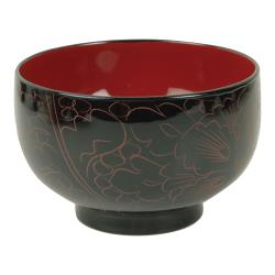 Thunder Group - 45-3 - 9 oz. Wood Miso & Rice Bowl image
