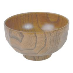 Thunder Group - 45-35 - 9 oz. Light Wood Miso & Rice Bowl image