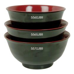 Thunder Group - 5565JBR - 28 oz. Melamine Donburi Soba Bowl image