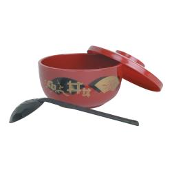 Thunder Group - PLNB001 - Red Soba Donburi Bowl w/ Ladle image