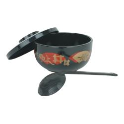 Thunder Group - PLNB002 - Black Soba Donburi Bowl w/ Ladle image