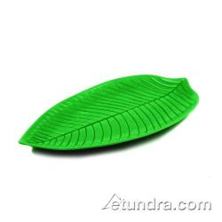 "World Cuisine - 44835G53 - 20 7/8"" x 11 3/8"" Green Melamine Leaf Dish image"