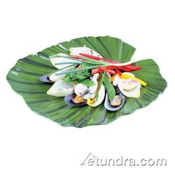 World Cuisine - 44836G35 - Palm-Shaped Green Melamine Platter image