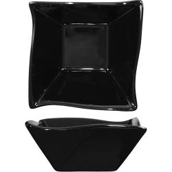 International Tableware - AS-11-B - 11 oz Aspekt™ Black Wave Fruit Dish image