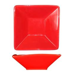 ITI - FA-7-CR - 9 oz Crimson Red Square Fruit Dish image