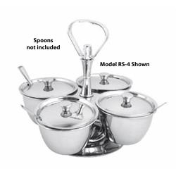 Winco - RS-3 - 3-Unit Relish Server image