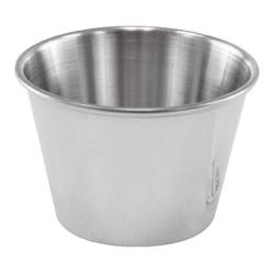 Winco - SCP-25 - 2 1/2 oz Stainless Steel Cocktail Dish/Sauce Cup image