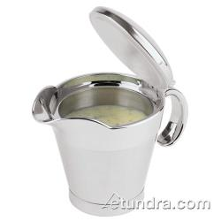 World Cuisine - 41620-04 - 13 1/4 oz Stainless Steel Gravy Boat image