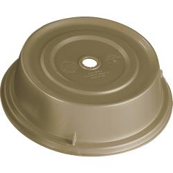 "Cambro - 1007CW - Camwear® Camcover® Round 10 5/8"" Beige Plate Cover image"