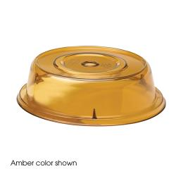 "Cambro - 806CW - Camwear® Camcover® Round 8 7/16"" Amber Plate Cover image"