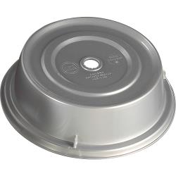 "Cambro - 909CW - Camwear® Camcover® Round 9 3/4"" Silver Plate Cover image"
