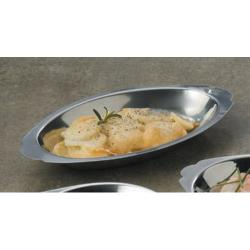American Metalcraft - AO200 - 20 oz Oval Stainless Steel Au Gratin Dish image