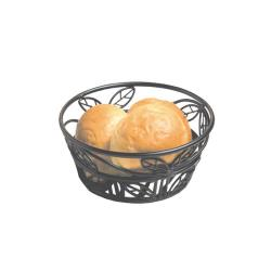 American Metalcraft - BLLB81 - Ironworks™ 8 in Round Leaf Wrought Iron Bread Basket image