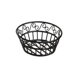 American Metalcraft - BLSB80 - Ironworks™ 8 in Round Wrought Iron Bread Basket image