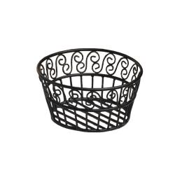 American Metalcraft - BLSB93 - Ironworks™ 9 in Round Scroll Wrought Iron Bread Basket image