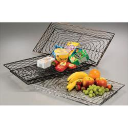 American Metalcraft - BNBC20132 - Chrome Large Rectangular Birdnest Basket image