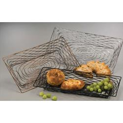 American Metalcraft - BNBC33 - Chrome Medium Rectangular Birdnest Basket image