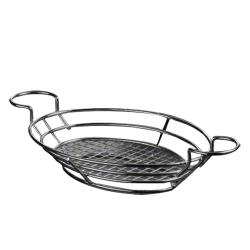 American Metalcraft - BSKB811 - Oval Black Wire Basket w/Ramekin Holders image